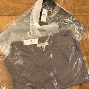 LOFT Tops - Loft Sequined Shirt and Elbow Length Cardigan